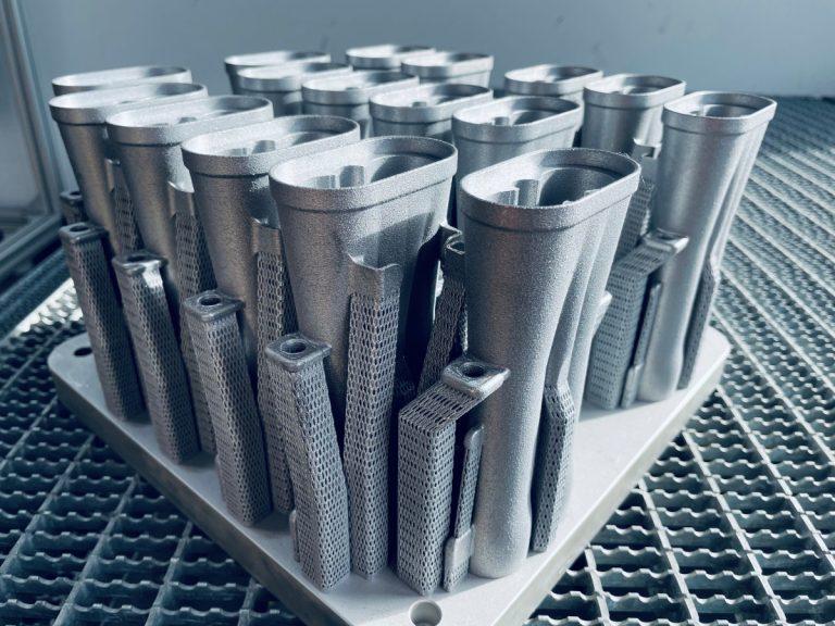 3D-Druck Metall SLM auf Bauplattform